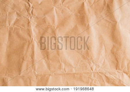 Abstract brown recycle crumpled paper for background,crease of brown paper textures for design poster