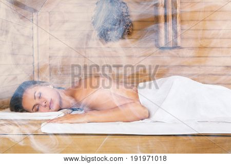 Young relax woman spa leisure luxury person