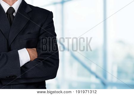 Business man suit elegant competitive background close-up