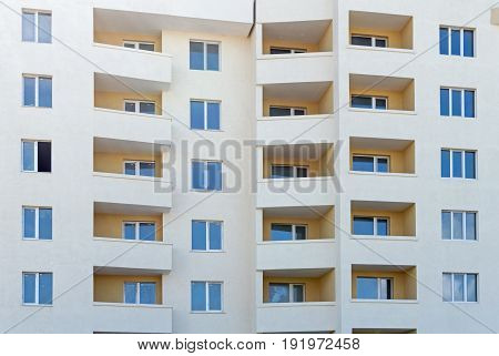 the big Modern new executive apartment building