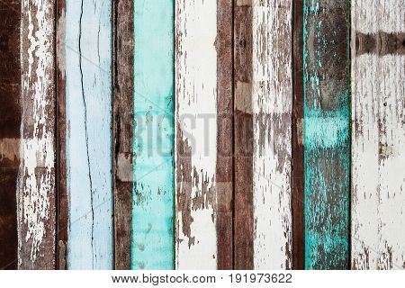 Surface of painted old wood texture background.
