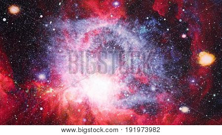 Planet and Galaxy - Elements of this Image Furnished by NASA