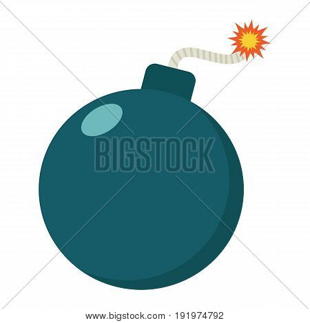 Bomb flat icon, dynamite and danger, vector graphics, a colorful solid pattern on a white background, eps 10.