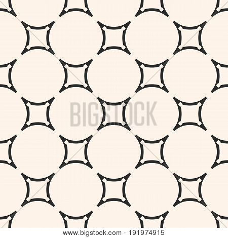 Vector geometric texture. Seamless pattern. Monochrome circular lattice, smooth shapes, thin lines. Subtle endless abstract background. Design pattern, home pattern, decor pattern, fabric pattern, furniture pattern.
