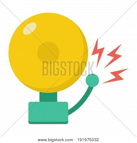 Fire alarm flat icon, intruder alarm and security, vector graphics, a colorful solid pattern on a white background, eps 10.