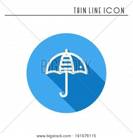 Umbrella line simple icon. Weather symbols. Meteorology. Forecast design element. Template for mobile app, web and widgets. Vector linear icon. Isolated illustration. Flat sign. Logo
