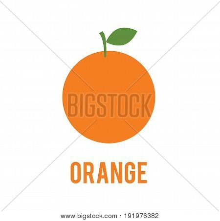 Orange icon in flat style. Isolated on white background. Orange logo. Vector stock.