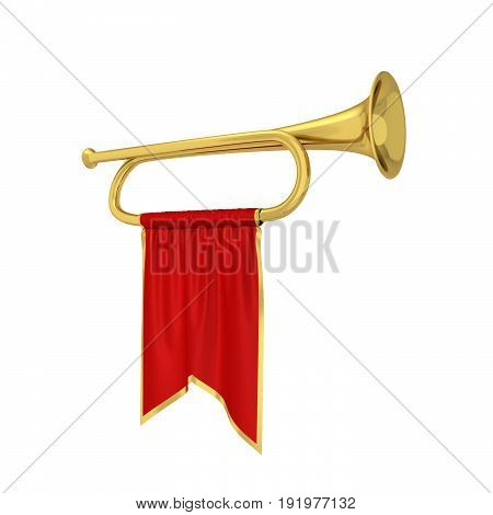 Trumpet With Banner
