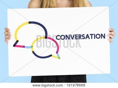 Chat online speech bubble icon