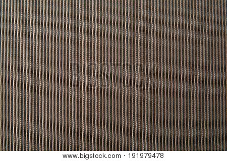 Texture of brown striped fabric for background