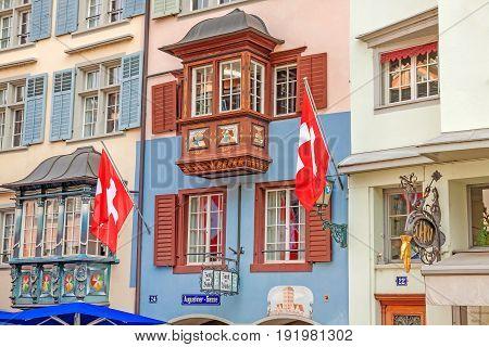 Zurich, Augustiner - Gasse, Lindenhof Quarter