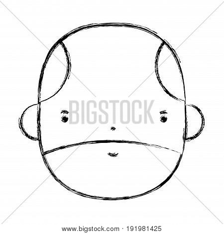 figure nice businessman to kawaii avatar vector illustration