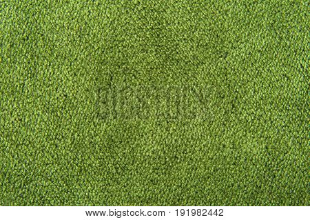 fabric texture green carpeting - for background