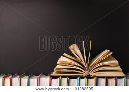 Background collection books nobody paper closeup texture