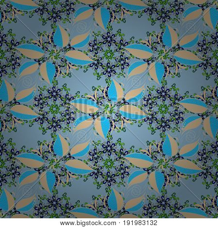 Seamless pattern with many small leaves. Seamless floral pattern. Vector abstract floral background.