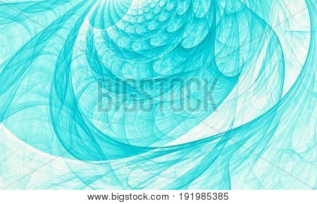 Abstract aqua marine wave background - fractal computer generated picture