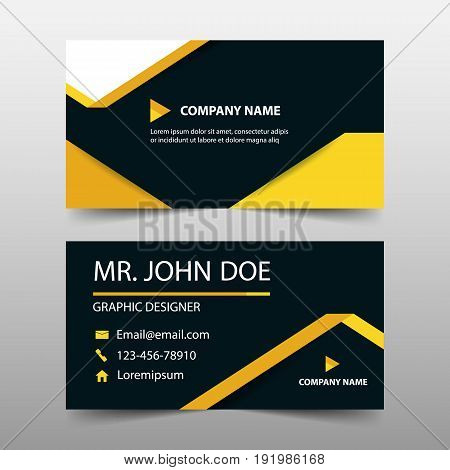 Yellow label corporate business card name card template horizontal simple clean layout design template Business banner template for website