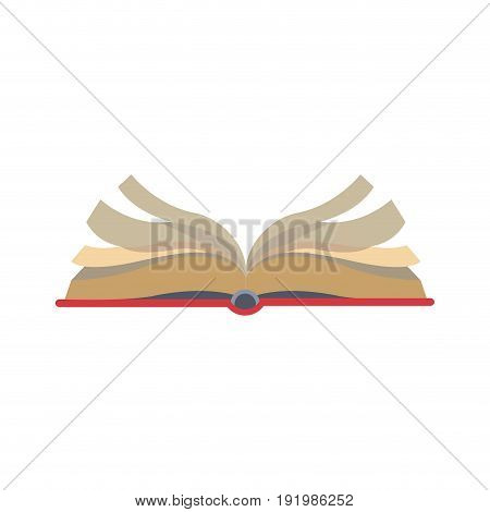 open book learn knowledge science icon vector illustration