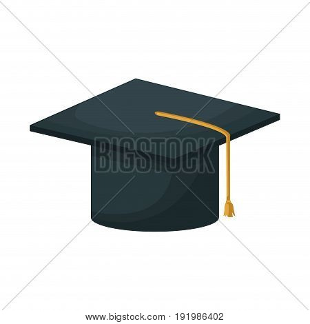 graduation cap education academy achievement icon vector illustration