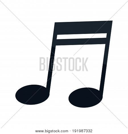 music note icon melody element symbol vector illustration