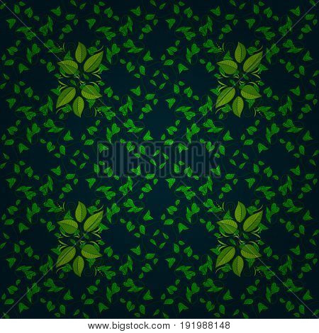 Textile print for bed linen jacket package design fabric and fashion concepts. Abstract vector seamless pattern leaf design in colors. Floral seamless pattern with watercolor effect.