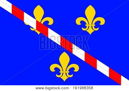 Flag of Evreux is a commune in the Eure department of which it is the capital in Haute Normandie in northern France. Vector illustration