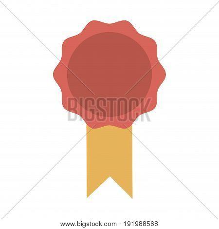 award ribbon rosette best quality emblem vector illustration