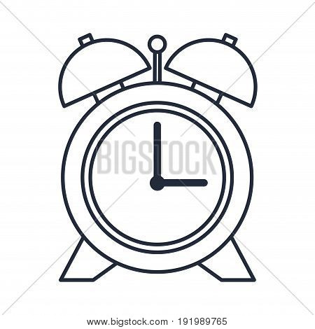 alarm clock school time hour image vector illustration