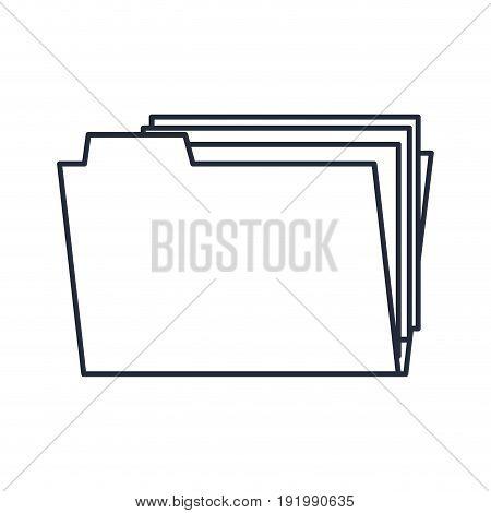folder file document paper office outline vector illustration