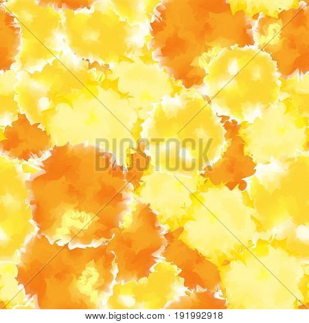 Yellow Seamless Watercolor Texture Background. Remarkable Abstract Yellow Seamless Watercolor Textur