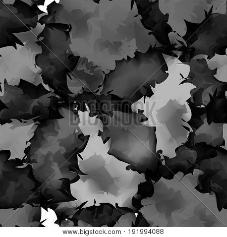 Dark Black And White Watercolor Texture Background. Excellent Abstract Dark Black And White Watercol