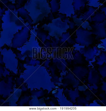 Dark Blue Watercolor Texture Background. Fair Abstract Dark Blue Watercolor Texture Pattern. Express