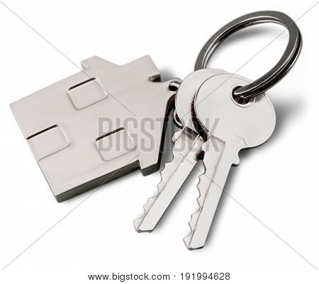 House chain keys keychain down payment white gift