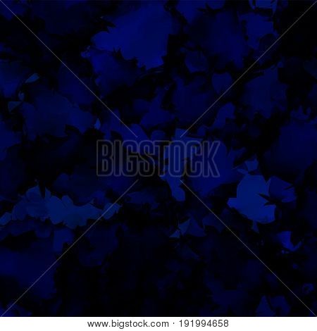 Dark Blue Watercolor Texture Background. Shapely Abstract Dark Blue Watercolor Texture Pattern. Expr