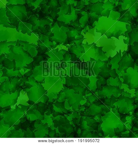 Dark Green Watercolor Texture Background. Bewitching Abstract Dark Green Watercolor Texture Pattern.