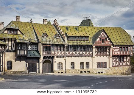 Old House near the Pelesh Castle in Sinaia Romania