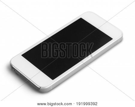 Isolated phone screen touch smartphone white computer