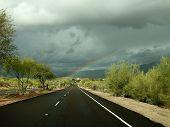 Sonoran Desert Rainbow on Boulevard in Scottsdale, Arizona poster