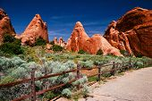 Sunny day in Arches Canyon. Utah. USA poster