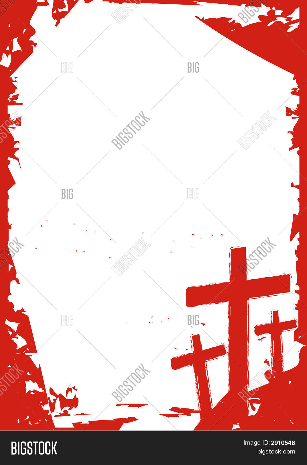 Grunge Cross Frame Vector & Photo | Bigstock