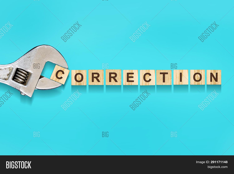 Correction, Word Image & Photo (Free Trial) | Bigstock