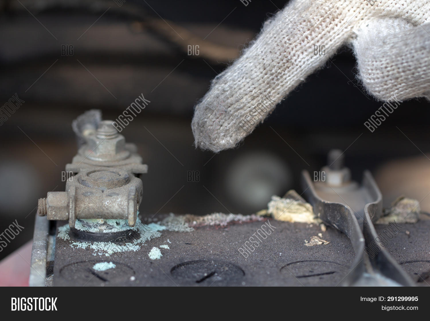 Mechanic Hand Pointing Image Photo Free Trial Bigstock