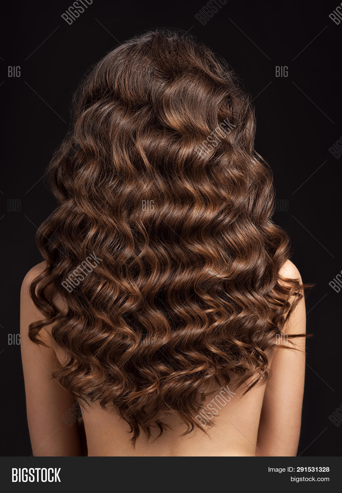 Girl Long Curly Hair Image Photo Free Trial Bigstock