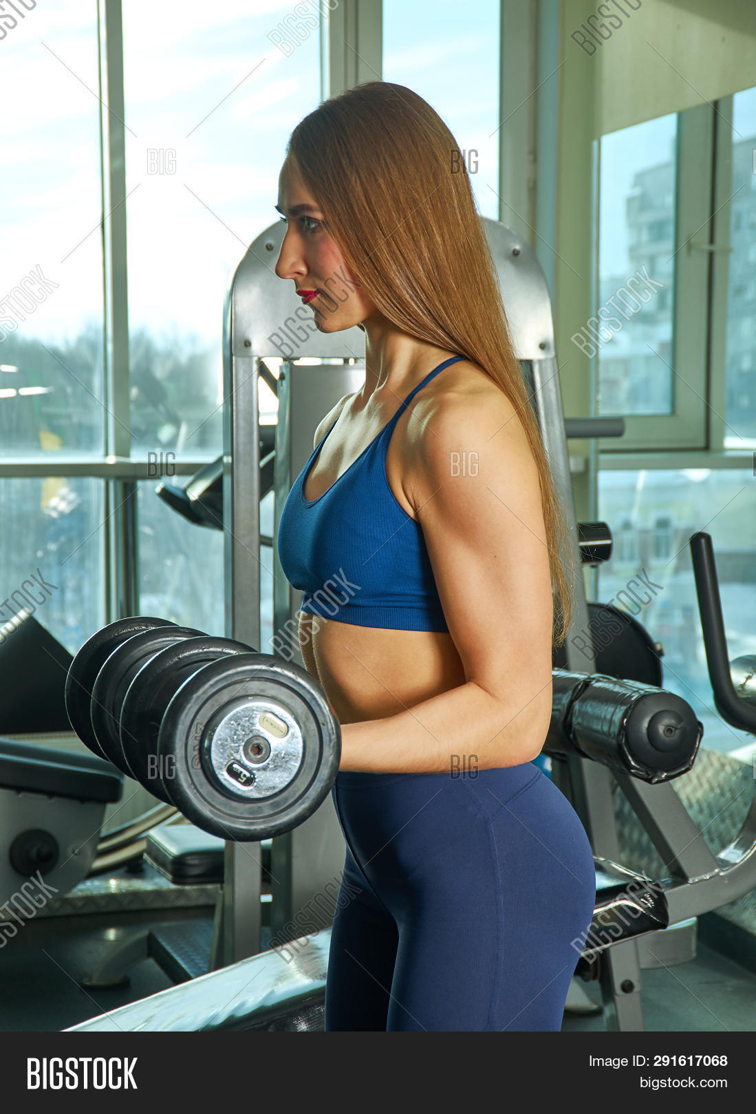 Sporty Woman Builds Image & Photo (Free Trial) | Bigstock