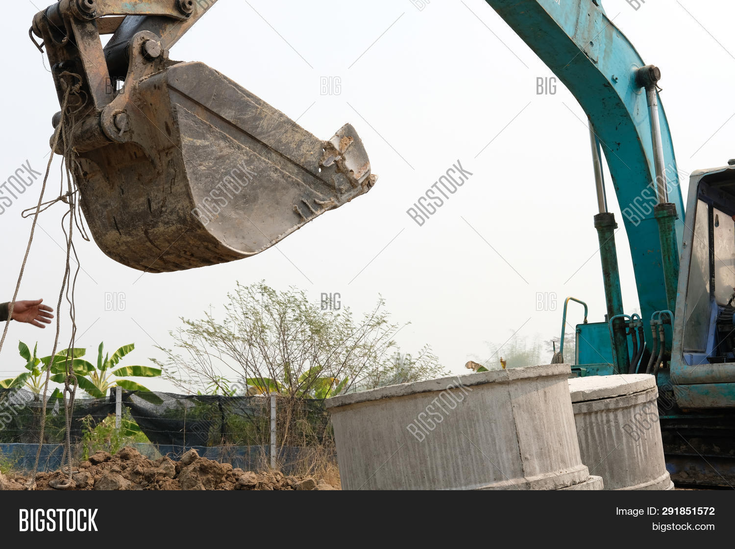 Excavator Backhoe Image & Photo (Free Trial) | Bigstock
