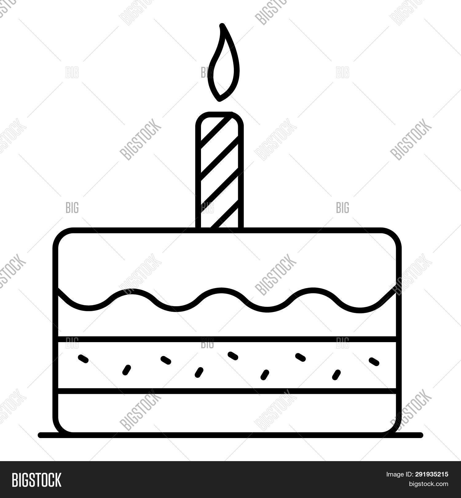Stupendous First Birthday Cake Image Photo Free Trial Bigstock Birthday Cards Printable Trancafe Filternl