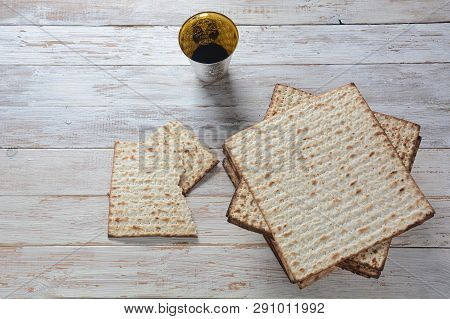 Matzah Jewish Passover Bread  An Unleavened Flatbread That Is Part Of Jewish Cuisine And Forms An In