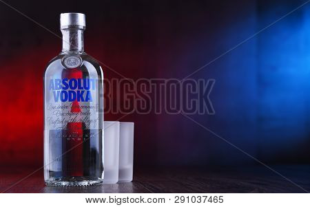 Bottle Of Absolut Vodka