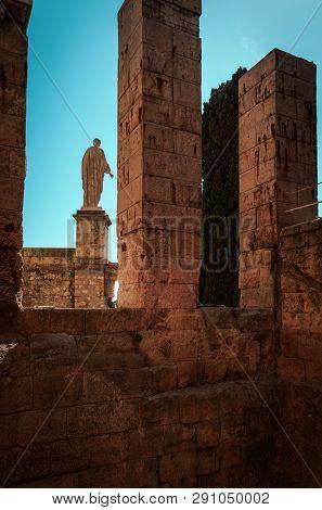 Statue Of Augustus Caesar Contemplating The Mediterranean Sea