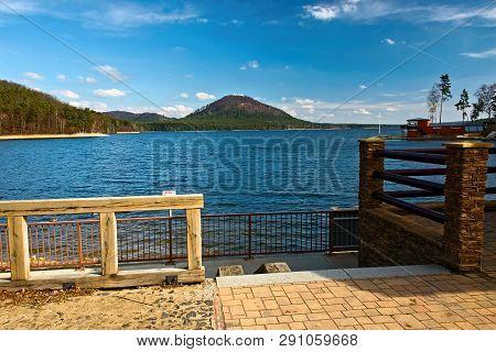 Machovo Jezero Lake In Czech Tourist Region Of Machuv Kraj